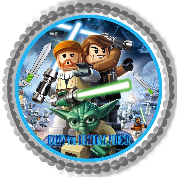 Lego Star Wars 1 Edible Birthday Cake Or Cupcake Topper Edible
