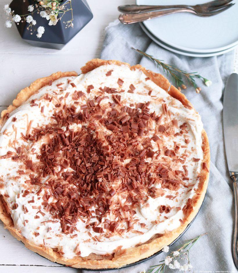 Bananen Karamell Creme Torte Mürbeteig