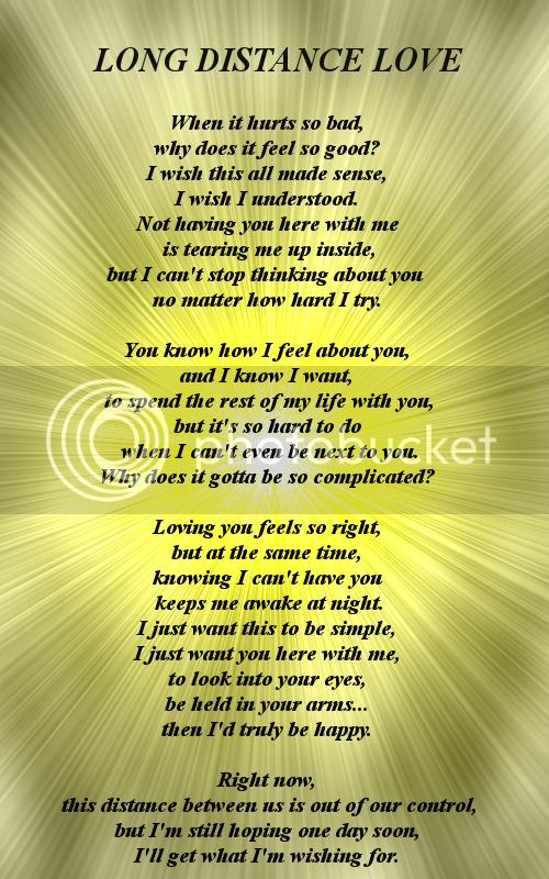 Poem distance love Long Distance