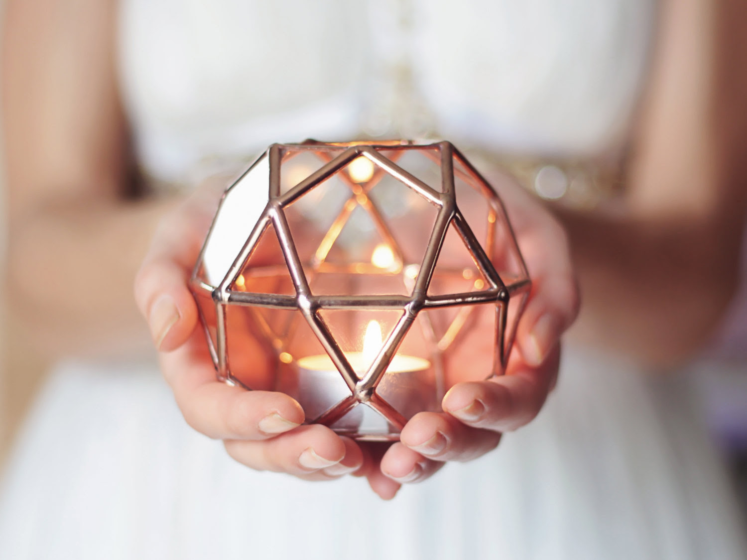 Geometric Glass Candle Holder - Adorable Home