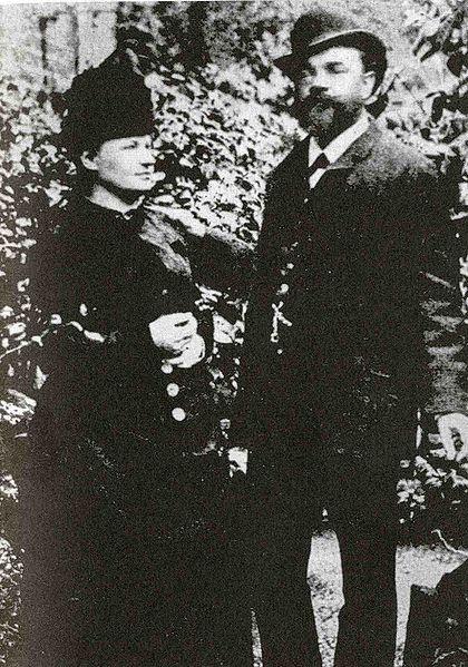 Arquivo: Antonín Dvořák com sua esposa Anna, em Londres, 1886.jpg