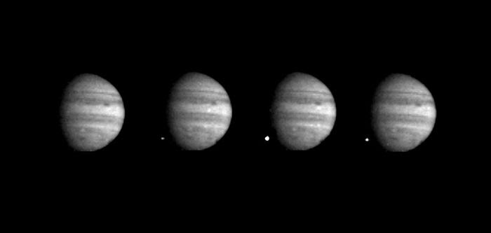 NASA's Galileo spacecraft took this shot of fragment W, which was once part of Comet Shoemaker Levy-9, striking Jupiter on July 22, 1994.