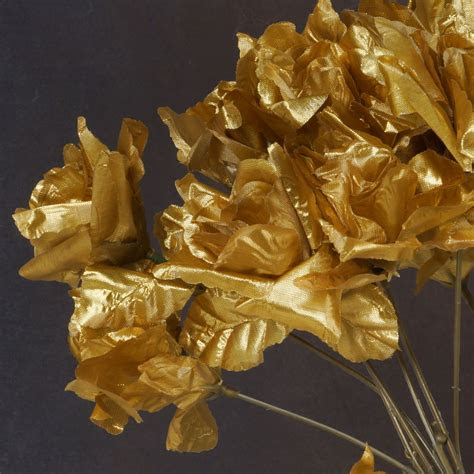 gold silk open roses wedding discounted flowers