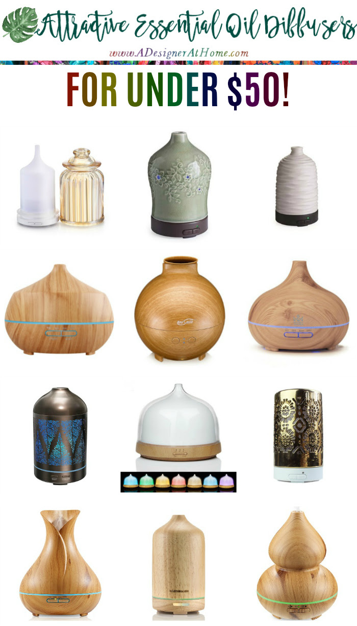 Attractive Essential Oil Diffusers for under $50- no reps no commisions. Your own aromatherapy unleashed!