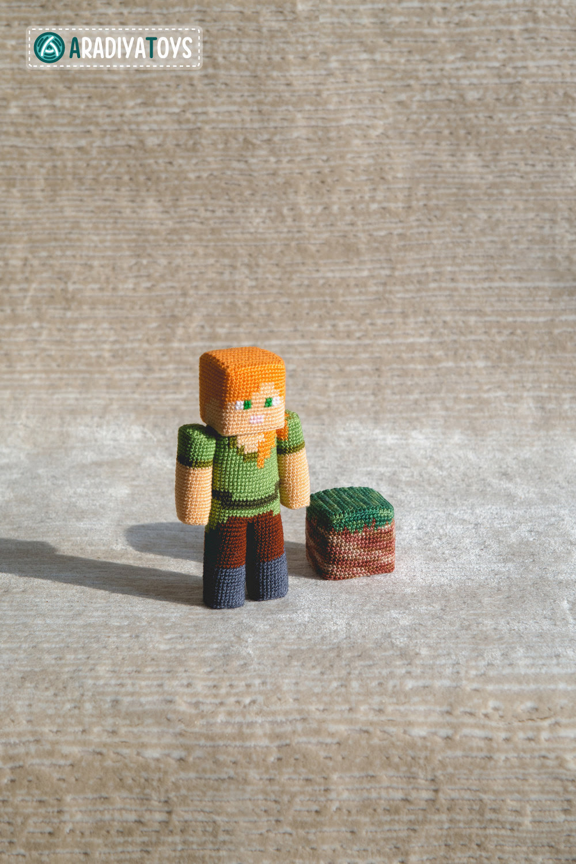 Minecraft Amigurumi Designs by Olka Novitska