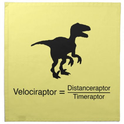 velociraptor funny science cloth napkin