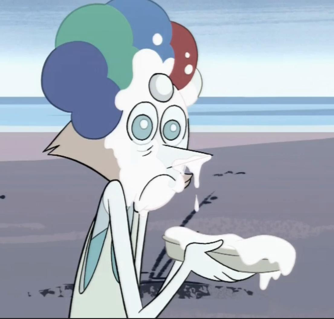 Pearls facial expressions are what I live for
