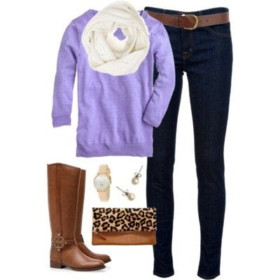 Lavender & Leopard - Polyvore - classically-preppy