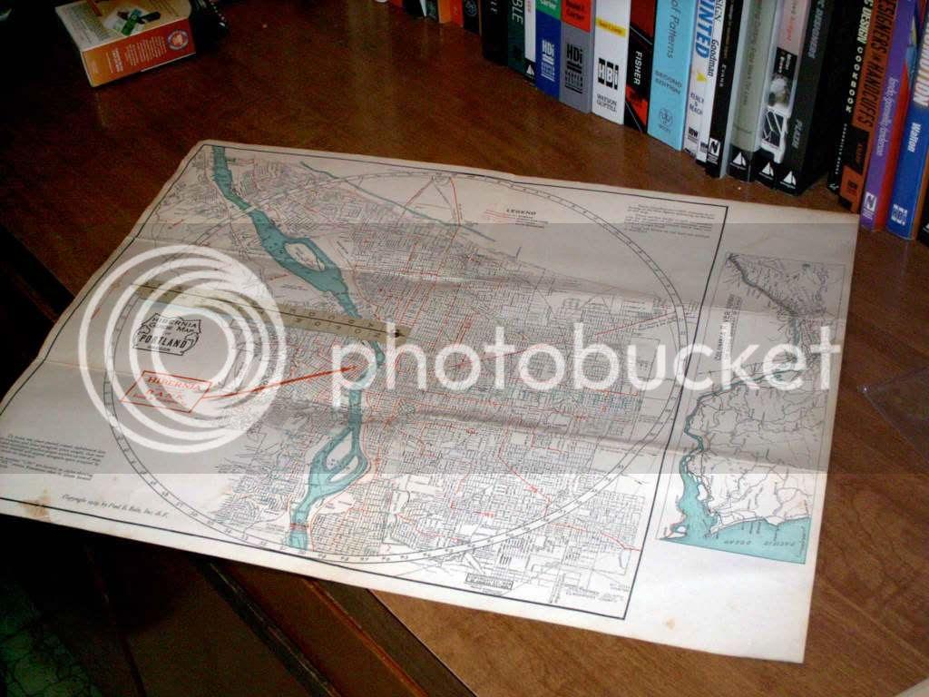 1928 Portland Map unfolded 2