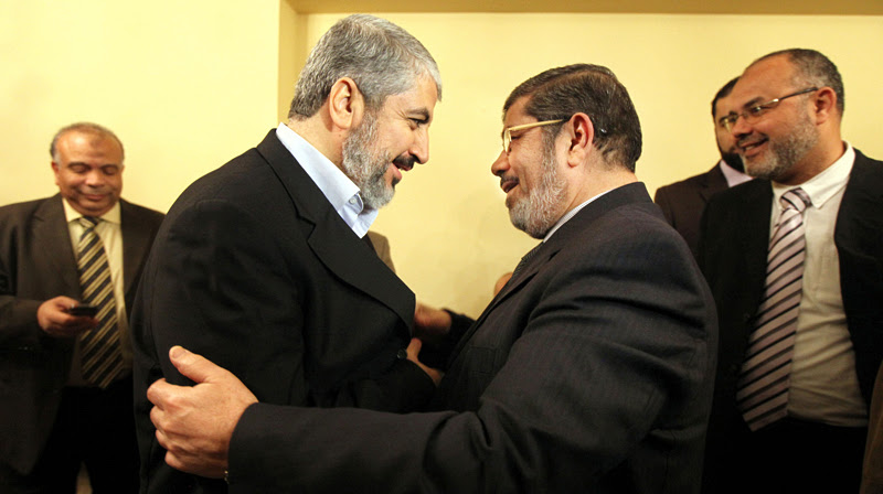 Khaled Meshaal, leader of Hamas was tight with ousted Mohamed Morsi