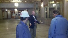 A CPH Staffer (Board member?) describes options to update the lobby without destroying historic integrity