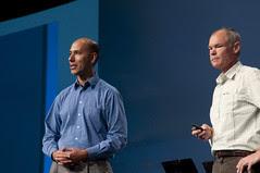 Marcial Hernandez and Greg Bollella, JavaOne Keynote, JavaOne + Develop 2010 San Francisco