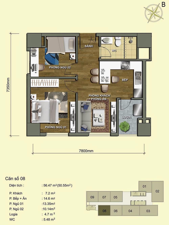 Căn số 08 - Park View Residence