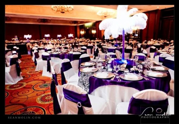 wedding black purple silver ADP Reception My daughters beautiful wedding