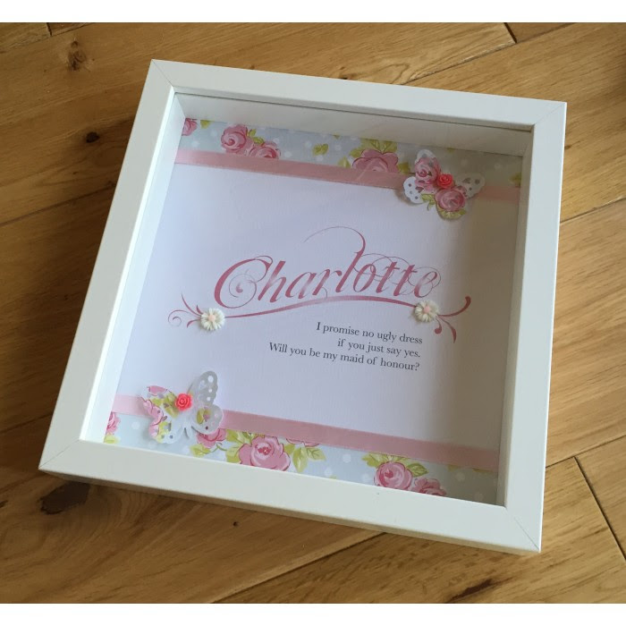 Will You Be My Bridesmaid Butterfly Frame