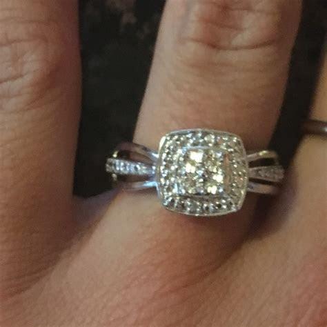 55% off Zales Jewelry   Quad Diamond Accent Square Frame