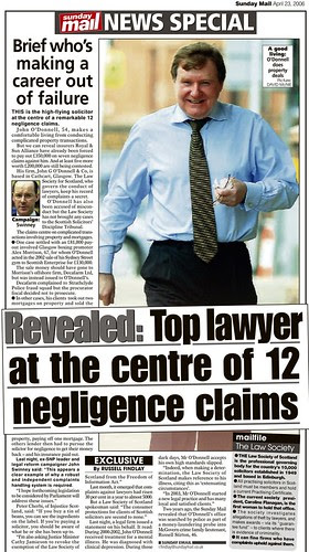 Top lawyer at centre of 12 negligence claims