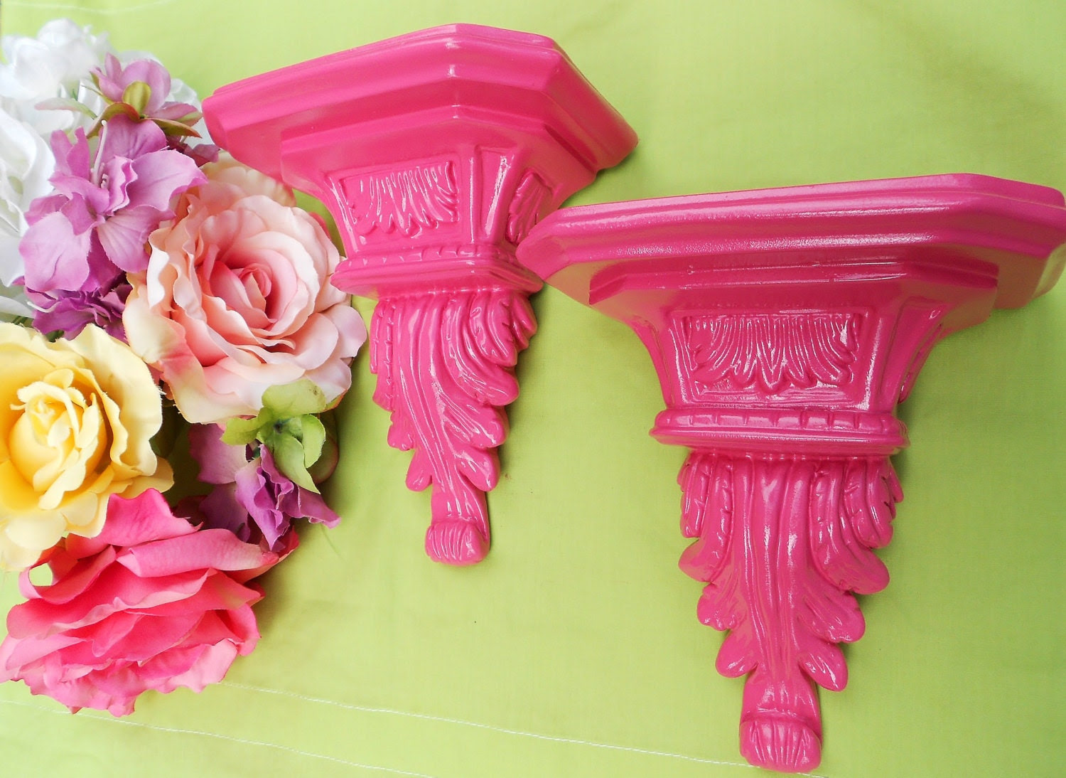Popular items for hot pink girls room on Etsy