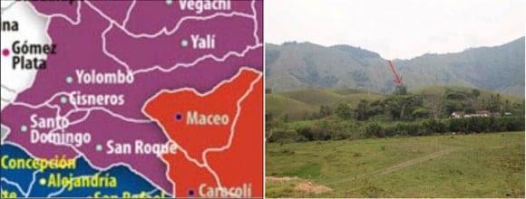 La hacienda Las Guacharacas quedaba en medio de los municipios Yolombó y San Roque.