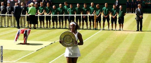 Serena Williams beats Garbine Muguruza to win 6th wimbledon title!