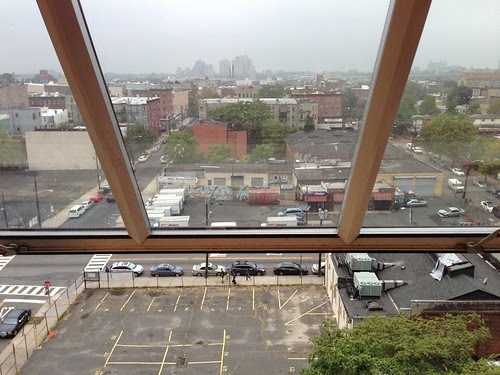 Looking out over part of downtown JC