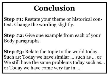 how to write a conclusion in a paper