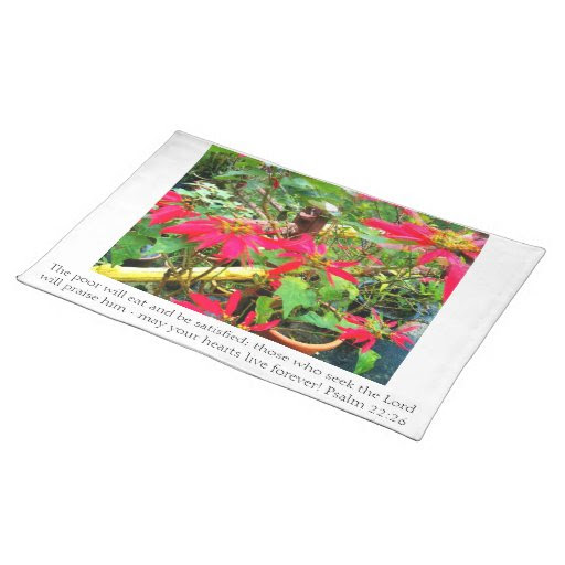 Christian table linens for Christmas Placemat from Zazzle.