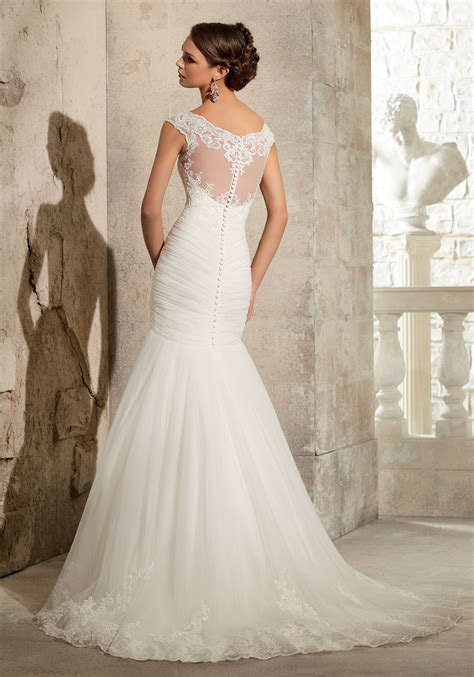 Lace on Net Wedding Dress   Style 5305   Morilee