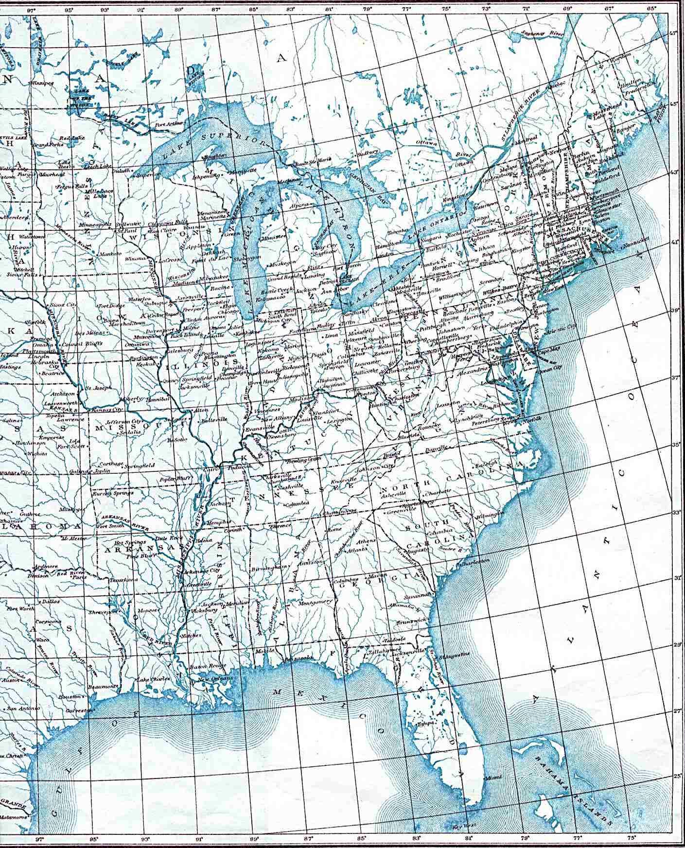 Maps Eastern Us Map United States