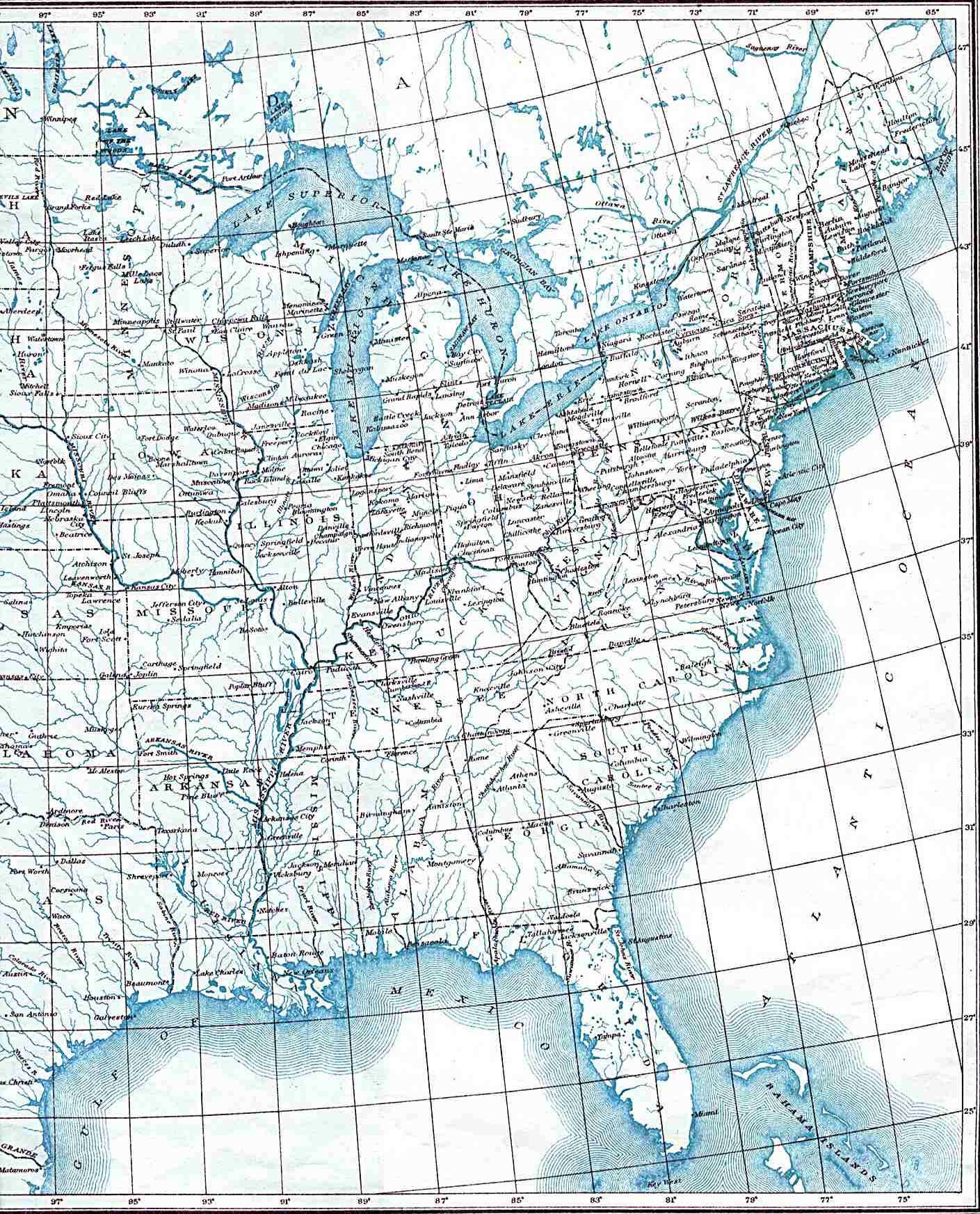 Maps Eastern Us Map United States - Map eastern us states