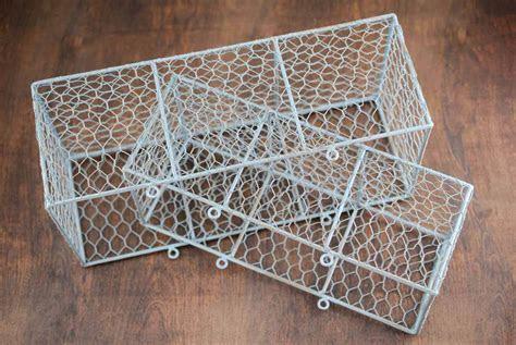 Wire Basket Slate Blue