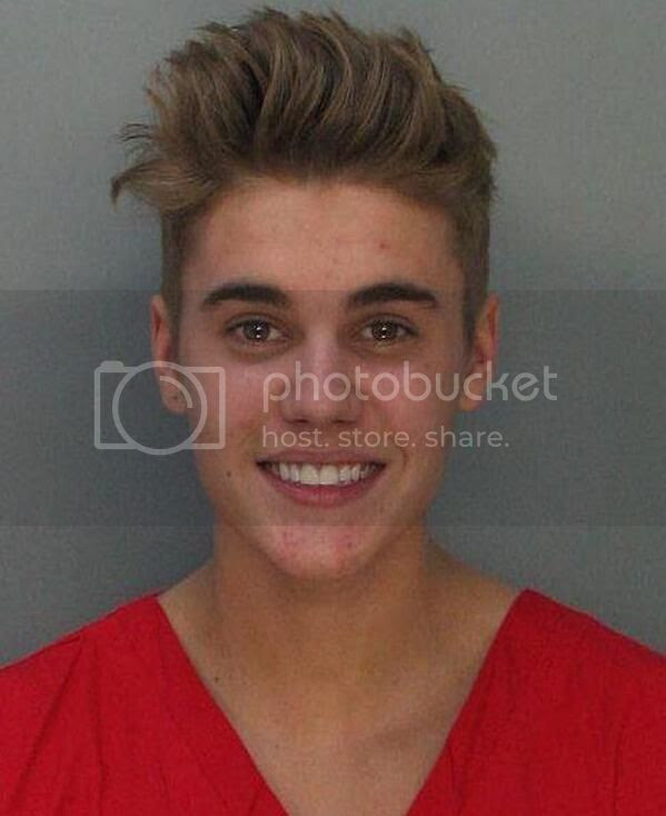 Justin Bieber's mugshot...