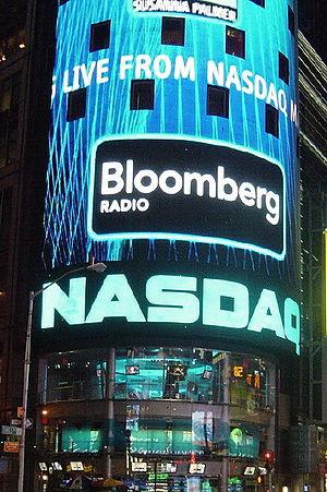 English: NASDAQ in Times Square, New York City...