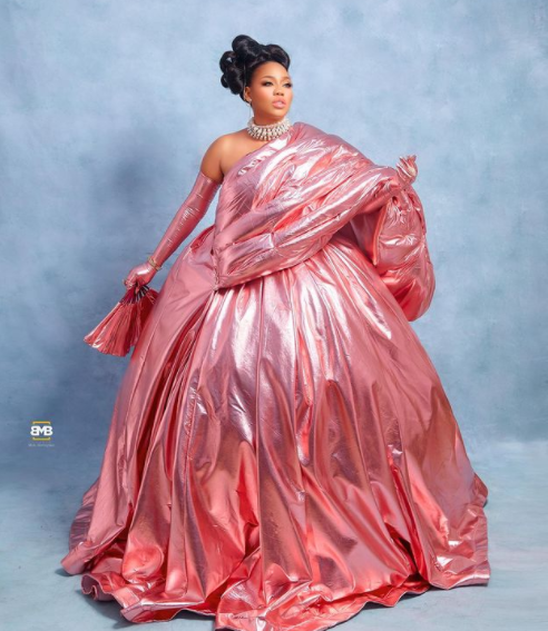 Fashion entrepreneur, Toyin Lawani poses topless as she releases stylish photos to celebrate her 39th birthday
