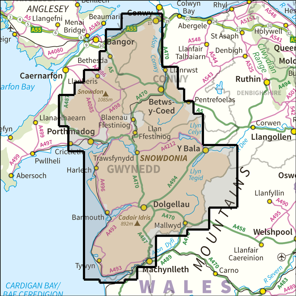 Map Of Snowdonia Map Of Snowdonia | Bedroom 2018