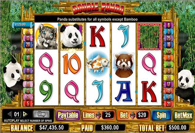 Resort double panda slot machine online amaya just]