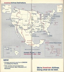 American Airlines Route Map - United Airlines and Travelling