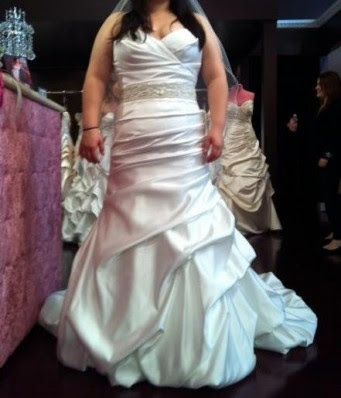 wedding dress before alterations it 39s actually a little loose i think the