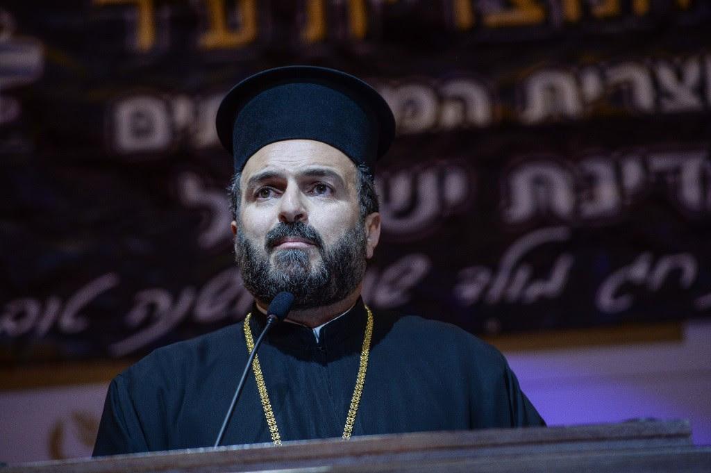 Father Gabriel Naddaf. Photo: Aviram Valdman / The Tower