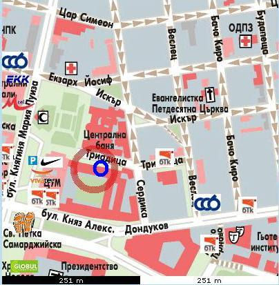Министерството на труда и социалната политика - карта