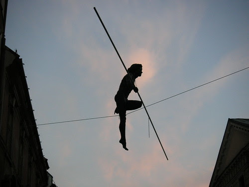 Balancing lady