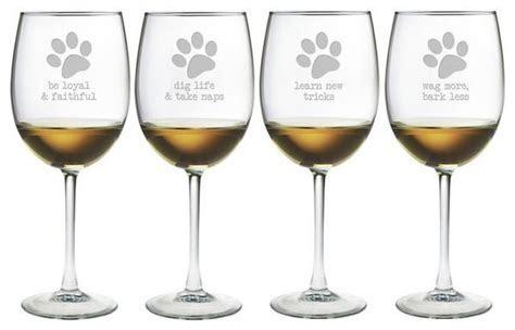 Dog Wisdom Wine Glasses ~ Set of 4