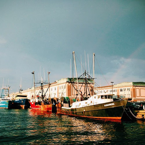 Boats. And bit of rainbow.