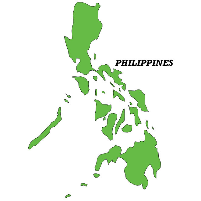 philippine islands map outline_52829