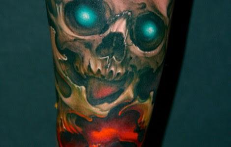 Half Sleeve Skull Tattoos Tattoos Designs Ideas