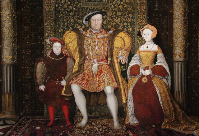 Part of -The Family of Henry VIII- by an unknown artist c 1545