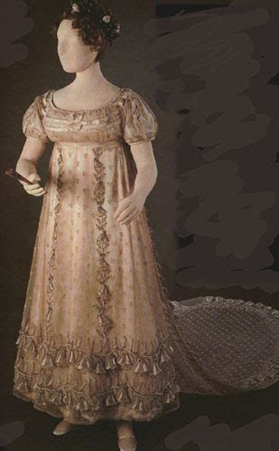 "1814 1816 Princess Charlotte's ""bellflower"" court dress"