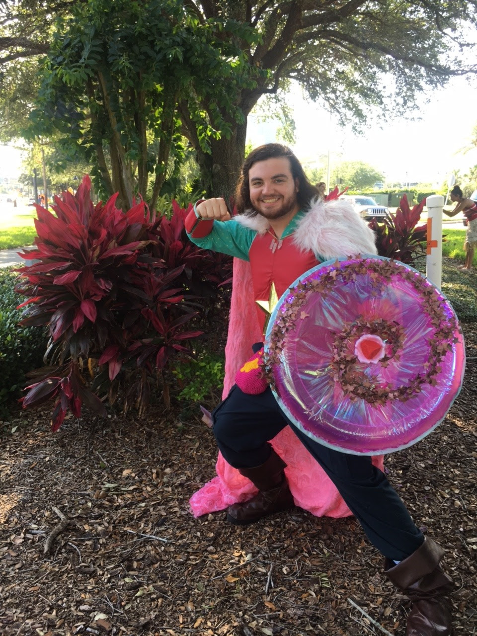 Cosplay: Battle-Ready Steven from Steven Universe! Con: MegaCon 2017 I tried to come up with armor Steven would wear once he's older and can go on more dangerous missions with the Crystal Gems...