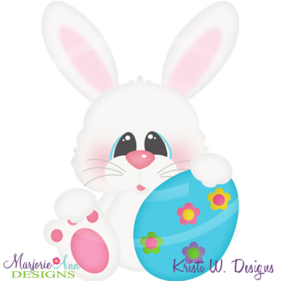 Here Comes The Easter Bunny Cutting Files-Includes Clipart