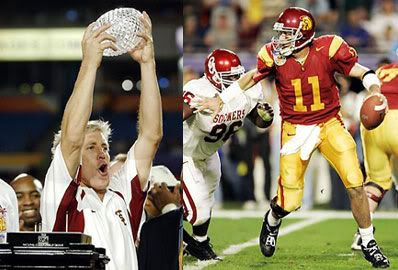 The USC Trojans win their second consecutive national championship title.